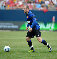 Manchester United forward Wayne Rooney (10) prepares to shoot.  Manchester United defeated the Chicago Fire 3-1 at Soldier Field in Chicago, IL on July 23, 2011.