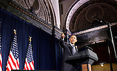 United States President Barack Obama speaks during a Democratic Party fundraiser at the Chicago Cultural Center, Thursday, August 5, 2010 in Chicago, Illinois. Earlier in the day Obama visited a Ford motor company Chicago assembly plant and attended a fund raiser for Democratic U.S. Senate Candidate Alexi Giannoulias.  .Credit: Jeff Haynes - Pool via CNP