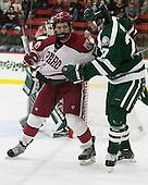 Seb Lloyd (Harvard - 15), Brandon Kirk (Dartmouth - 27) - The Harvard University Crimson tied the visiting Dartmouth College Big Green 3-3 in both team's first game of the season on Saturday, November 1, 2014, at Bright-Landry Hockey Center in Cambridge, Massachusets.