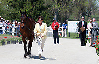 LEXINGTON, KY - April 26, 2017. #15 Tsunami and Sarah Cousins from the USA at the Rolex Three Day Event First Horse Inspection at the Kentucky Horse Park.  Lexington, Kentucky. (Photo by Candice Chavez/Eclipse Sportswire/Getty Images)