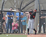 Ichiro Suzuki (Marlins),<br /> FEBRUARY 24, 2014 - MLB :<br /> Ichiro Suzuki of the Miami Marlins takes batting practice during the Miami Marlins spring training camp in Jupiter, Florida, United States. (Photo by AFLO)