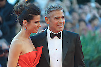 "sandra bullock and George Clooney attends ""The Gravity"" photocall during the 70th Venice Film Festival in Italy, on  August 28, 2013. (Photo by Adamo Di Loreto/BuenaVista*photo)"