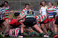 Action from the Wellington women's premier club rugby match between Old Boys University and Hutt Old Boys Marist at Te Whaea in Wellington, New Zealand on Saturday, 21 July 2018. Photo: Dave Lintott / lintottphoto.co.nz