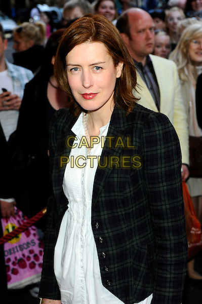 Gina McKee.The press night of 'The King's Speech' at Wyndhams Theatre, London, England..March 27th, 2012.half length black jacket blazer white dress .CAP/CJ.©Chris Joseph/Capital Pictures.