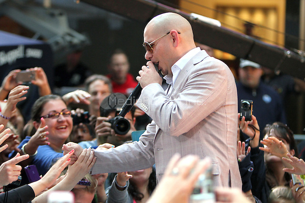 May 25, 2012 Pitbull performs during the soundcheck at NBC's Today Show Toyota Concert Series in New York City. © RW/MediaPunch Inc.