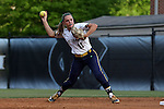25 April 2016: Notre Dame's Carly Piccinich. The University of North Carolina Tar Heels hosted the University of Notre Dame Fighting Irish at Anderson Stadium in Chapel Hill, North Carolina in a 2016 NCAA Division I softball game. UNC won the game 7-6.
