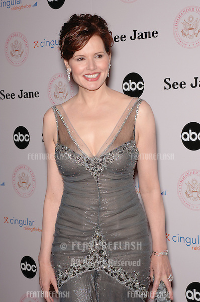 Actress GEENA DAVIS at premiere screening for ABC TV's new series Commander in Chief, in which she stars as the first female US President..September 21, 2005  Beverly Hills, CA.© 2005 Paul Smith / Featureflash