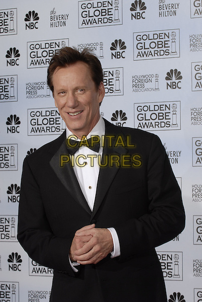"""JAMES WOODS.Pressroom - 64th Annual Golden Globe Awards, Beverly Hills HIlton, Beverly Hills, California, USA..January 15th 2007. .globes press room half length black tuxedo jacket bow tie.CAP/AW.Please use accompanying story.Supplied by Capital Pictures.© HFPA"""" and """"64th Golden Globe Awards"""""""