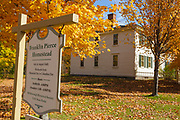 Franklin Pierce Homestead State Historic Site in Hillsborough, New Hampshire USA during the autumn months. The homestead was built in 1804 & was the boyhood home of Franklin Pierce.
