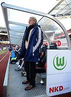 FUSSBALL   1. BUNDESLIGA  SAISON 2012/2013   10. Spieltag 1. FC Nuernberg - VfL Wolfsburg      03.11.2012 Trainer Lorenz Guenther Koestner (VfL Wolfsburg)