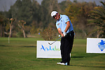 Damien McGrane (IRL) chips onto the par3 9th hole during Day 1 Thursday of the Open de Andalucia de Golf at Parador Golf Club Malaga 24th March 2011. (Photo Eoin Clarke/Golffile 2011)