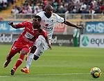 Bogotá- Equidad Seguros venció 4 goles por 2 a Patriotas F.C, en el partido correspondiente a la fecha 16 del Torneo Clausura 2014, desarrollado en el estadio Metropolitano de Techo.