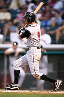 August 12, 2009: John Raburn of the Nashville Sounds, Pacific Cost League Triple A affiliate of the Milwaukee Brewers, during a game at the Spring Mobile Ballpark in Salt Lake City, UT.  Photo by:  Matthew Sauk/Four Seam Images