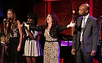 "Maddie Shea Baldwin, Loren Lott, Kirsten Wyatt and Donald Webber Jr. on stage during a Song preview performance of the BeBe Winans Broadway Bound Musical ""Born For This"" at Feinstein's 54 Below on November 5, 2018 in New York City."