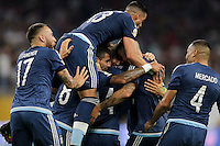 Houston, TX - June 21, 2016: The U.S. Men's National team go down 0-3 to Argentina from a goal by Lionel Messi in Semifinal play at the 2016 Copa America Centenario at NRG Stadium.
