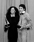 Michael Jackson 1980 with Diana Ross at American Music Awards.© Chris Walter.