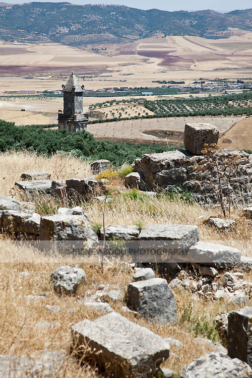 Named as a UNESCO World Heritage Site in 1997 and located southeast of Tunis, the Roman ruins of Dougga are renowned as the largest and most beautiful Roman site in all of Tunisia.