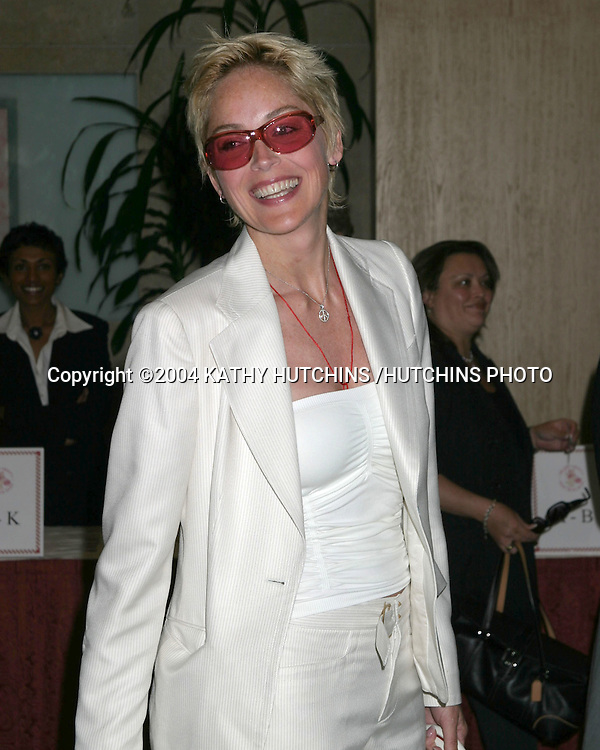 ©2004 KATHY HUTCHINS /HUTCHINS PHOTO.HELP GROUP ANNUAL SPRING LUNCHEON.BEVERLY HILLS, CA.JUNE 14, 2004..SHARON STONE