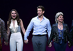 Samantah Barks, Andy Karl and Orfeh during the Curtain Call for the Garry Marshall Tribute Performance of 'Pretty Woman:The Musical' at the Nederlander Theatre on August 2, 2018 in New York City.