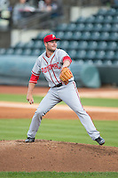 Potomac Nationals starting pitcher Dakota Bacus (31) in action against the Winston-Salem Dash at BB&T Ballpark on April 30, 2015 in Winston-Salem, North Carolina.  The Nationals defeated the Dash 5-4..  (Brian Westerholt/Four Seam Images)