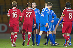 St Johnstone v Aberdeen....02.03.11 .Dave Mackay argues with Robert Milsom.Picture by Graeme Hart..Copyright Perthshire Picture Agency.Tel: 01738 623350  Mobile: 07990 594431