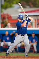 Pulaski Blue Jays right fielder Travis Snyder (34) stands in at the plate versus the Burlington Indians at Burlington Athletic Park in Burlington, NC, Saturday, July 29, 2006.  The Indians defeated the Blue Jays by the score of 8-4.