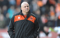 Blackpool Physio Phil Horner during the pre-match warm-up <br /> <br /> Photographer Kevin Barnes/CameraSport<br /> <br /> The EFL Sky Bet League One - Blackpool v Southend United - Saturday 9th March 2019 - Bloomfield Road - Blackpool<br /> <br /> World Copyright © 2019 CameraSport. All rights reserved. 43 Linden Ave. Countesthorpe. Leicester. England. LE8 5PG - Tel: +44 (0) 116 277 4147 - admin@camerasport.com - www.camerasport.com