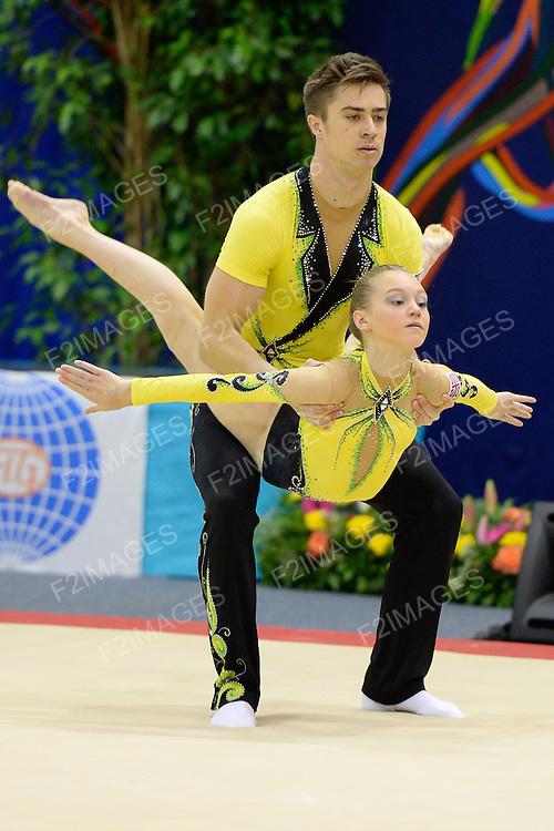 Sports Acrobatics Worlds 2014 .Palais des sports Marcel Cerdan<br /> 141 Rue Danton<br /> 92300 Levallois-Perret<br /> France
