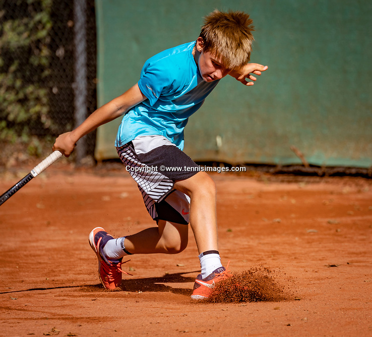 Hilversum, Netherlands, August 6, 2018, National Junior Championships, NJK, Manvydas Baldunas (NED)<br /> Photo: Tennisimages/Henk Koster