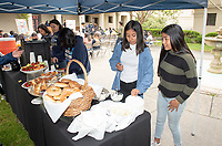 """Upward Bound hosts their annual """"End of the Year"""" celebration with participants and their families on May 12, 2018 in the courtyard of Booth Hall. Jimmy Gomez, U.S. Representative for California's 34th congressional district, was the featured speaker at the event.<br /> Upward Bound was established at Occidental College in 1966 and has since served over 2000 first generation, low income students in the Los Angeles region.<br /> (Photo by Marc Campos, Occidental College Photographer)"""