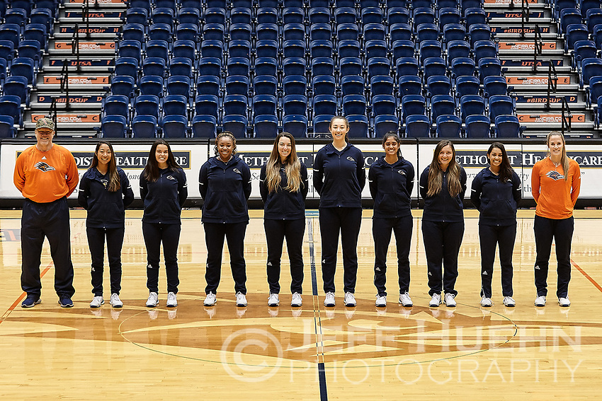 SAN ANTONIO, TX - FEBRUARY 9, 2019: The University of Texas at San Antonio Roadrunners Women's Tennis Team & Individual photos at the UTSA Convocation Center. (Photo by Jeff Huehn)
