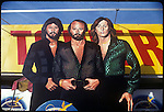 Bee Gees cutout billboard display at Tower Records on the sunset Strip circa 1979
