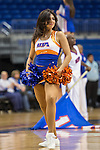 Texas Arlington Mavericks cheerleaders in action during the game between the UTSA Roadrunners and the Texas Arlington Mavericks at the College Park Center arena in Arlington, Texas. UTSA defeats UTA 59 to 57....