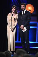 SANTA MONICA, CA - JANUARY 11: Alison Brie and Sebastian Stan at the 23rd Annual Critics' Choice Movie Awards at Barker Hangar on January 11, 2018 in Santa Monica, California. (Photo by Frank Micelotta/PictureGroup)