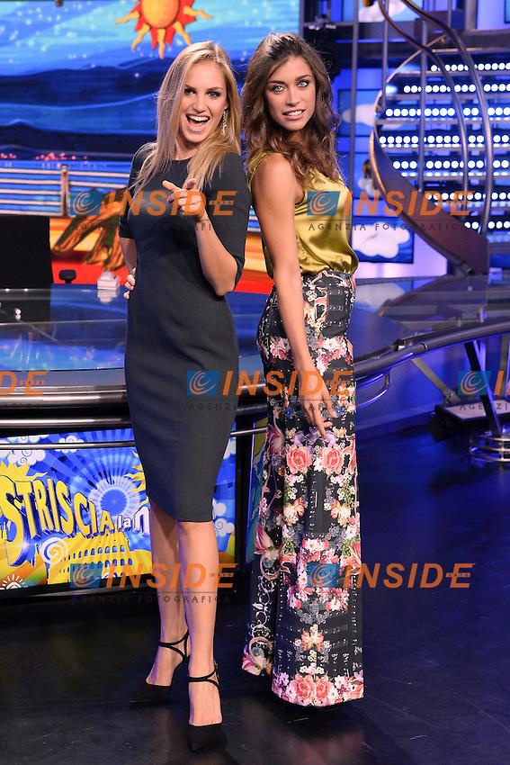 Irene Cioni, Ludovica Frasca <br /> Milano 22-09-2016 - photocall trasmissione Tv Striscia la notizia <br /> foto Daniele Buffa/Image/Insidefoto