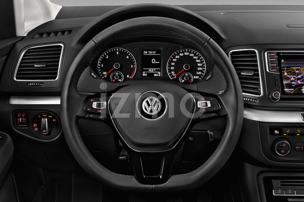 Car pictures of steering wheel view of a 2016 Volkswagen Sharan Confortline 5 Door Minivan Steering Wheel