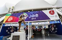 Aspects of the Pan-American stadium or stadium of Los Charros de Jalisco, prior to the start of tomorrow's baseball party Serie del Caribe 2018 to be held in Guadalajara Jalisco. Fans are looking for the latest tickets at the box office today and start selling the jersey and official cap of the Mexican team as well as the Cuba, Dominican Republic, Venezuela and Puerto Rico. February 1, 2018<br /> (Photo / Luis Gutierrez)<br /> <br /> FEB 1 2018, Guadalajara, Jalisco Mexico. Serie del Caribe 2018.<br /> Aspectos del estadio Panamericano o estadio de los Charros de Jalisco, previo al inicio el dia de ma&ntilde;ana de la fiesta del beisbol Serie del Caribe 2018 a celebrarse en  en Guadalajara Jalisco. Aficionados buscan los ultimos boletos en taquilla el dia de hoy e inicio la venta de la jersey y gorra oficial del equipo Mexicano asi como las Cuba, Republica Dominicana, Venezuela y Puerto rico. 1 de febrero de 2018.<br /> (Foto / Luis Gutierrez)