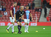 Burnley Head of Sports Science Mark Howard during the pre-match warm-up <br /> <br /> Photographer Kevin Barnes/CameraSport<br /> <br /> The Premier League - Southampton v Burnley - Sunday August 12th 2018 - St Mary's Stadium - Southampton<br /> <br /> World Copyright &copy; 2018 CameraSport. All rights reserved. 43 Linden Ave. Countesthorpe. Leicester. England. LE8 5PG - Tel: +44 (0) 116 277 4147 - admin@camerasport.com - www.camerasport.com