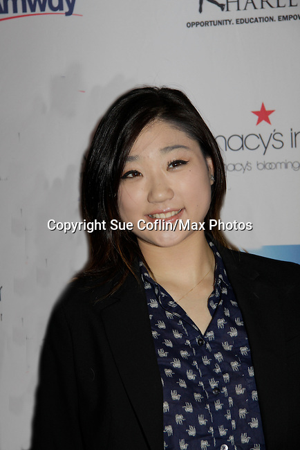 Mirai Nagasu - Skating with the Stars - a benefit gala for Figure Skating in Harlem in its 17th year is celebrated with many US, World and Olympic Skaters honoring Michelle Kwan and Jeff Tweedy on April 7, 2014 at Trump Rink, Central Park, New York City, New York. (Photo by Sue Coflin/Max Photos)