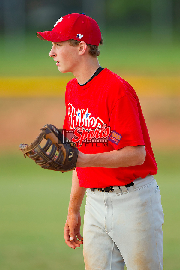 The Kannapolis Dixie Boys Cubs faced off against the Kannapolis Dixie Boys Phillies at Kannapolis Middle School on May 28, 2012 in Kannapolis, North Carolina.  The Phillies defeated the Cubs 4-3.  (Brian Westerholt/Sports On Film)