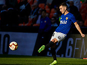 17th March 2019, Mestalla Stadium, Valencia, Spain; La Liga football, Valencia versus Getafe; Jose Gaya of Valencia CF warms up prior to the game