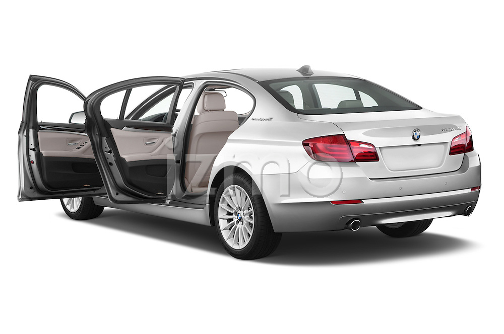 Rear three quarter door view of a 2013 Bmw SERIES 5 ActiveHybrid 5 4 Door Sedan 2WD