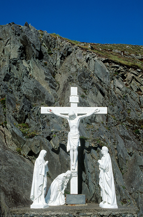 Roadside shrine along the Dingle Pininsula drive, County Kerry, Ireland