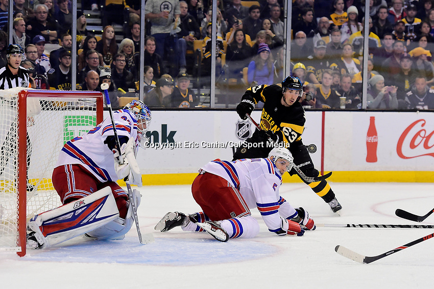 Saturday, November 5, 2016: Boston Bruins left wing Brad Marchand (63) shoots during the National Hockey League game between the New York Rangers and the Boston Bruins held at TD Garden, in Boston, Mass. The Rangers defeat the Bruins 5-2. Eric Canha/CSM