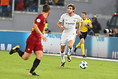 31st October 2017, Stadio Olimpico, Rome, Italy; UEFA Champions League, Roma versus Chelsea;  Marcos Alonso of Chelsea brings the ball forward