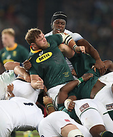 Duane Vermeulen of South Africa and Maro Itoje of England during the 2018 Castle Lager Incoming Series 1st Test match between South Africa and England at Emirates Airline Park,<br /> Johannesburg.South Africa. 09,06,2018 Photo by (Steve Haag Sports)