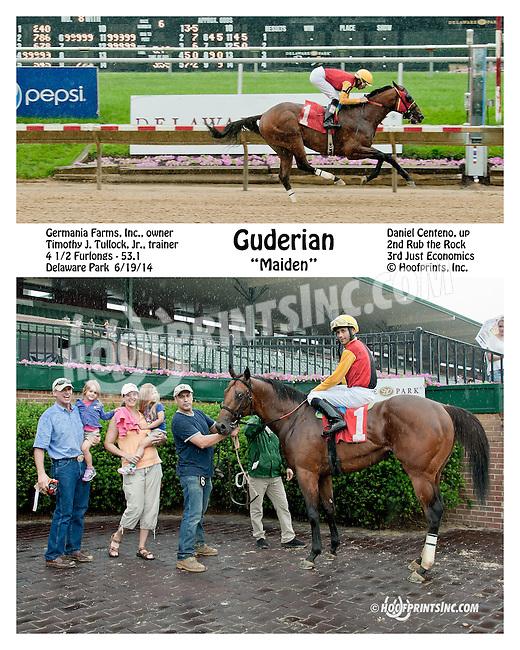 Guderian winning at Delaware Park racetrack on 6/19/14