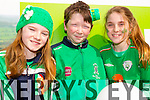 Muir Kingston, Joshua Roche and Eimear Ni Shuilleabhain from NaGaeil GAA Club at Tralee Saint Patrick's day parade on Tuesday.