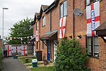 English flag flags decorated house car football world cup excitement. London