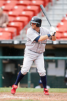 May 28, 2009:  Lehigh Valley IronPigs Left Fielder David Newham at bat during a game vs. the Buffalo Bisons at Coca-Cola Field in Buffalo, NY.  The IronPigs are the International League Triple-A affiliate of the Philadelphia Phillies.  Photo by:  Mike Janes/Four Seam Images